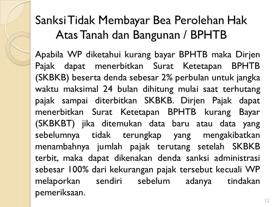 Sanksi Tidak Membayar Bea Perolehan Hak Atas Tanah dan Bangunan / BPHTB
