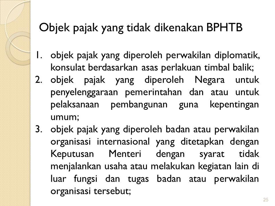 Objek pajak yang tidak dikenakan BPHTB