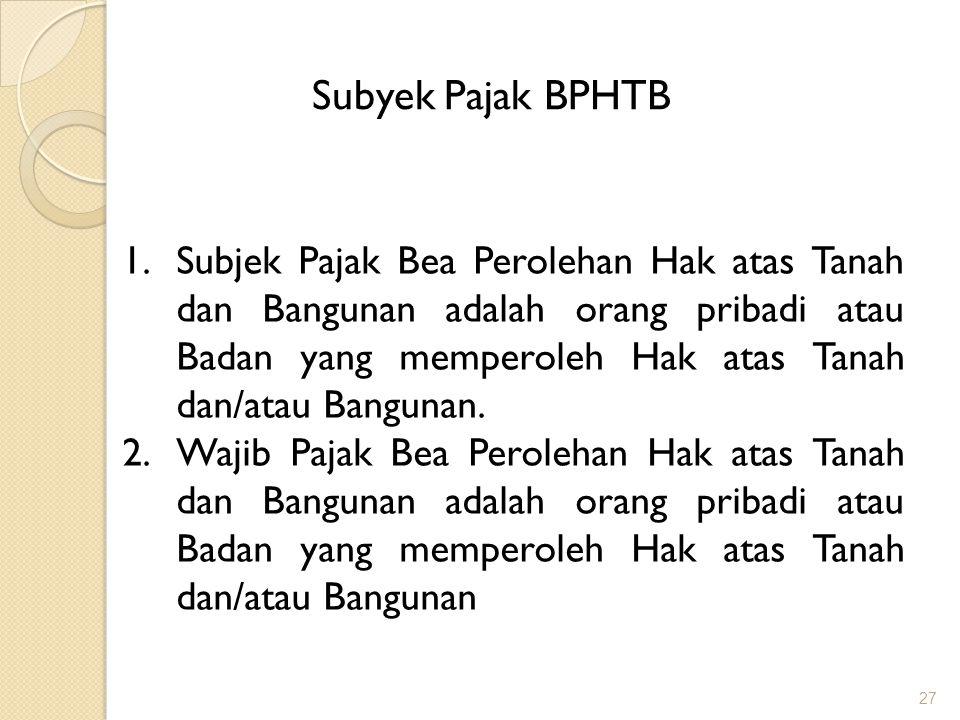 Subyek Pajak BPHTB