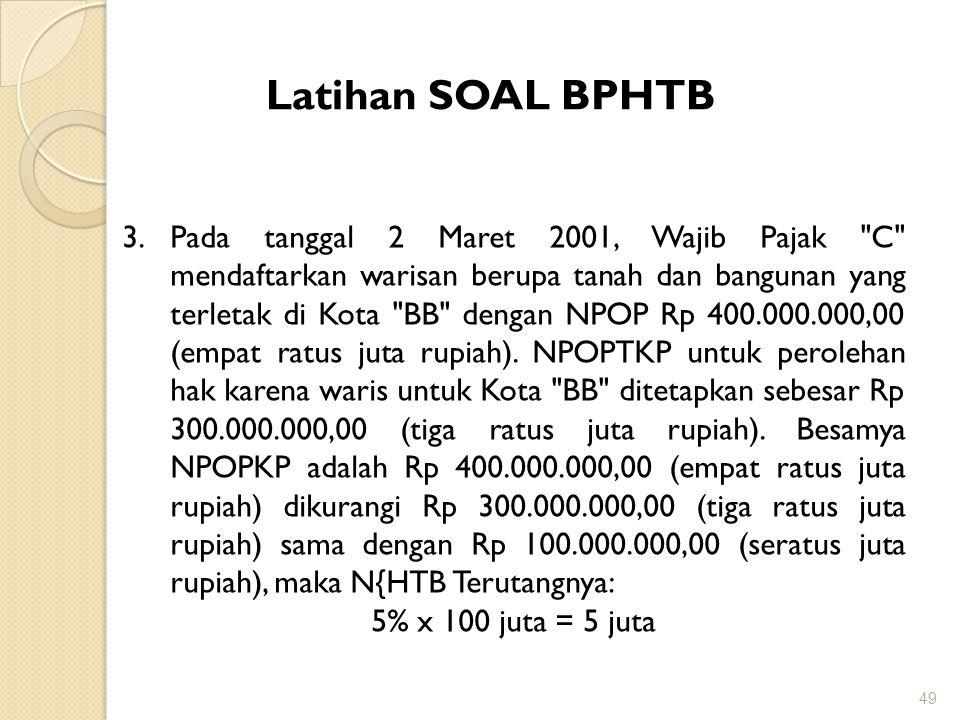 Latihan SOAL BPHTB