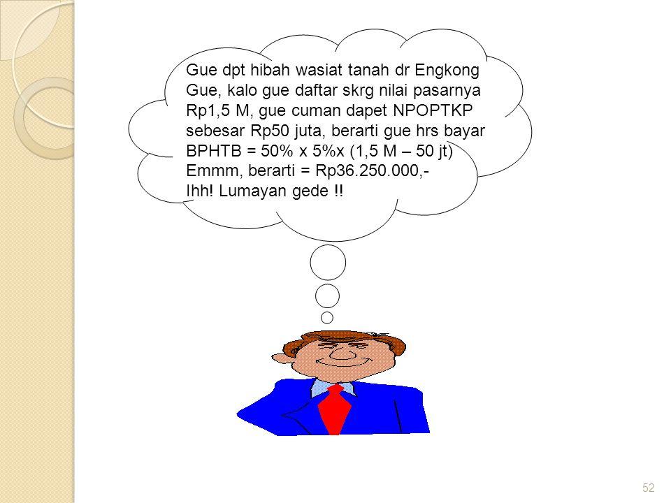 Gue dpt hibah wasiat tanah dr Engkong