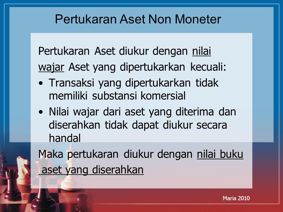 Pertukaran Aset Non Moneter