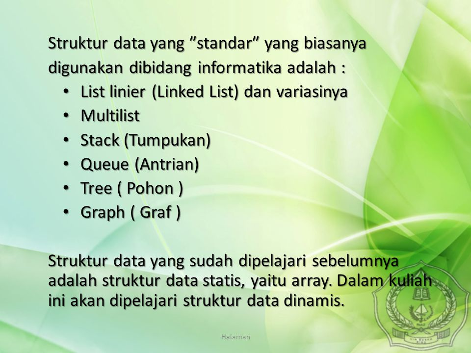 Struktur data yang ″standar″ yang biasanya