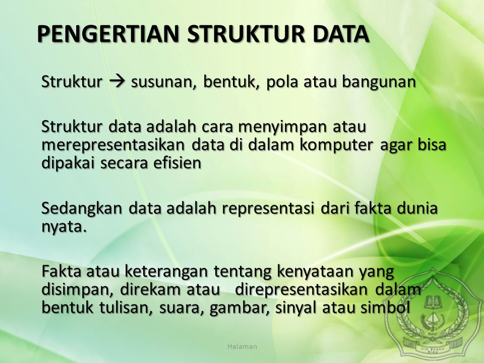 PENGERTIAN STRUKTUR DATA