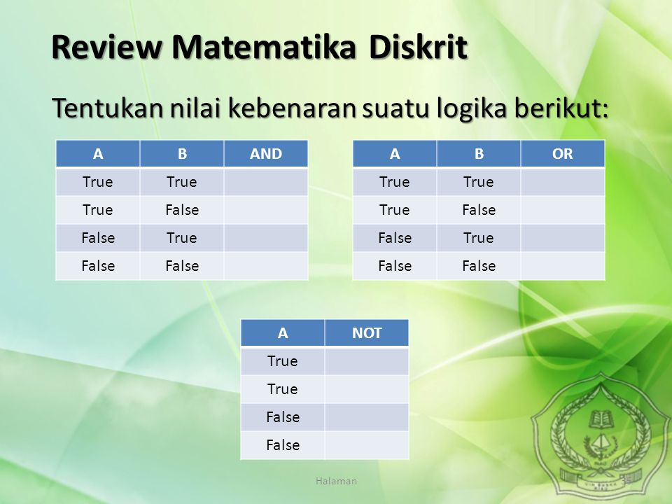 Review Matematika Diskrit