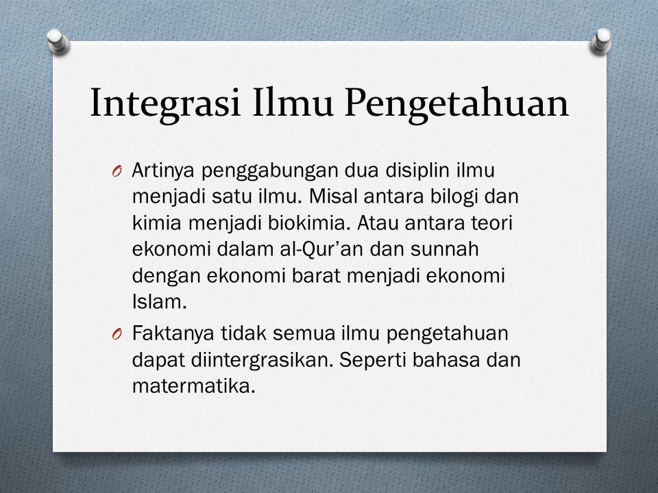 Integrasi Ilmu Pengetahuan
