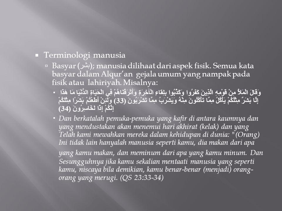 Terminologi manusia