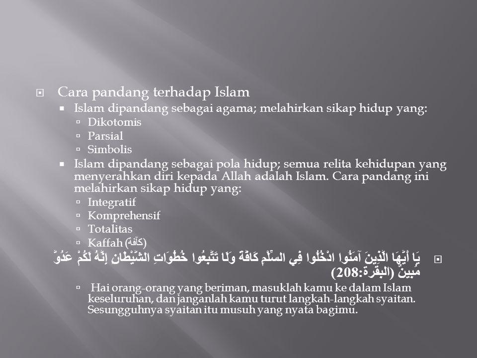 Cara pandang terhadap Islam