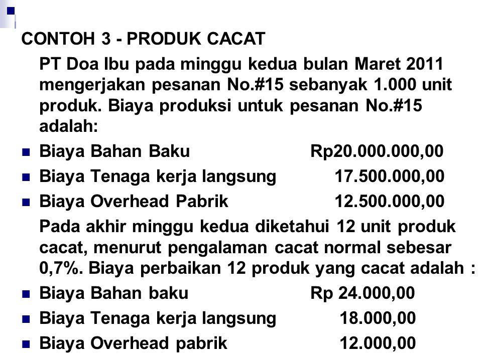 CONTOH 3 - PRODUK CACAT