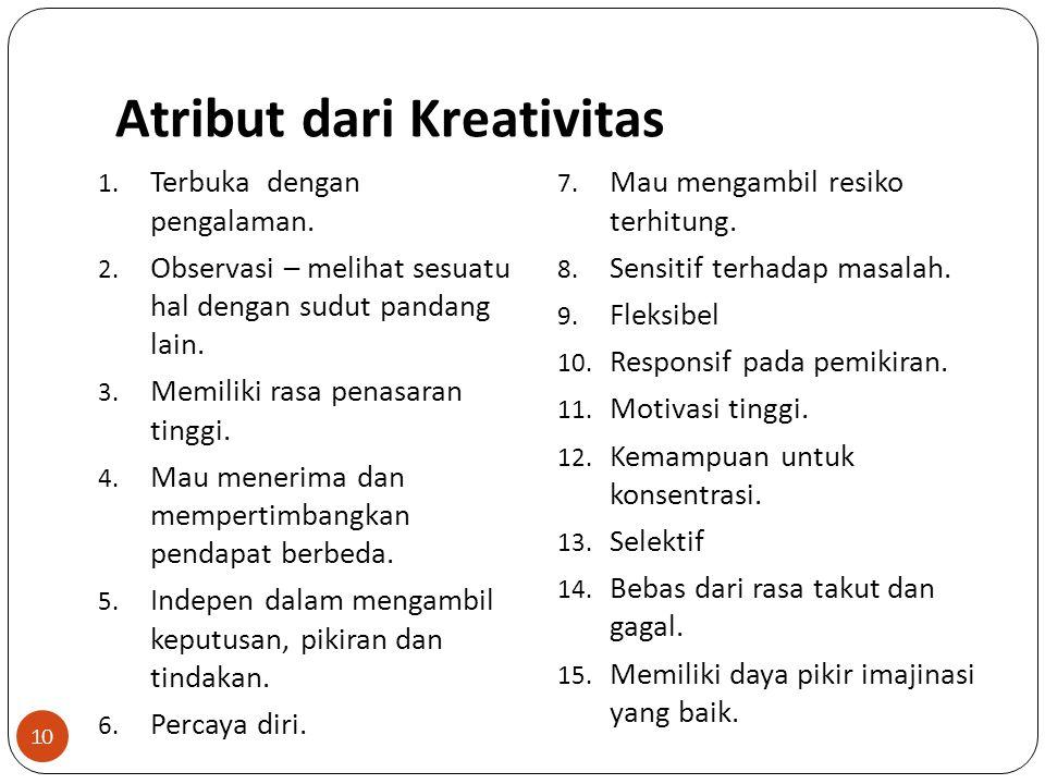 Atribut dari Kreativitas
