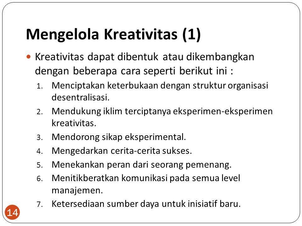 Mengelola Kreativitas (1)