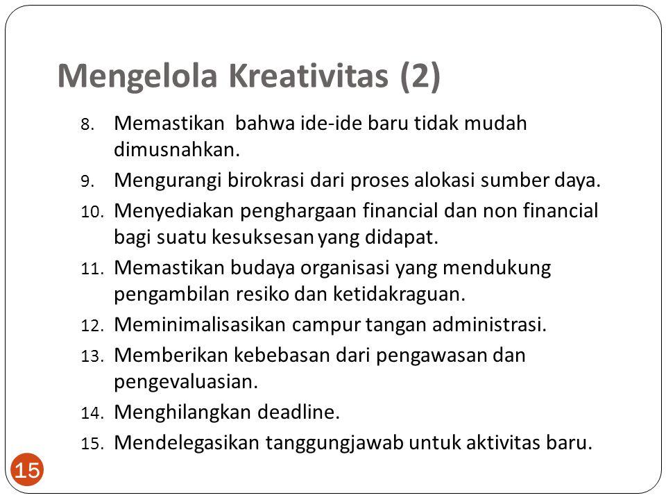 Mengelola Kreativitas (2)
