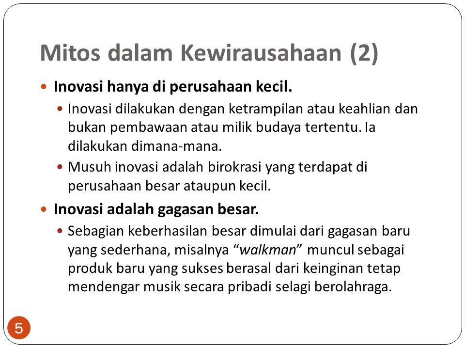 Mitos dalam Kewirausahaan (2)