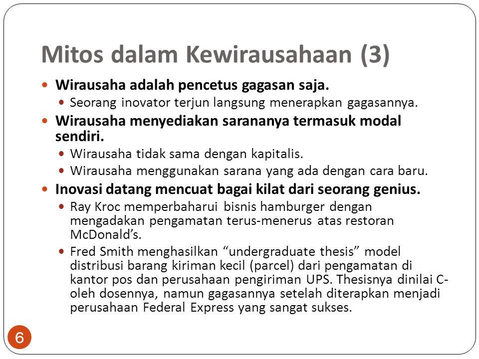 Mitos dalam Kewirausahaan (3)