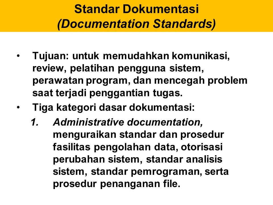 Standar Dokumentasi (Documentation Standards)