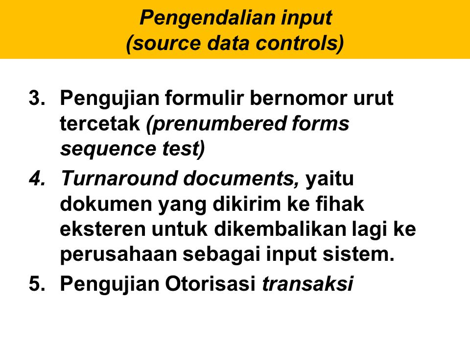 Pengendalian input (source data controls)