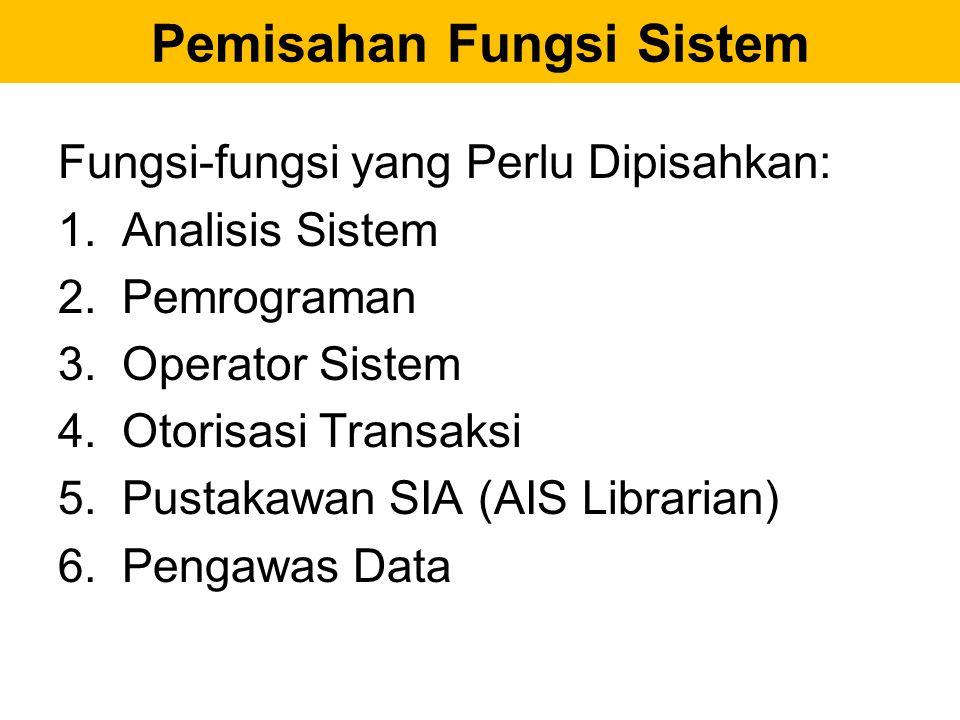 Pemisahan Fungsi Sistem