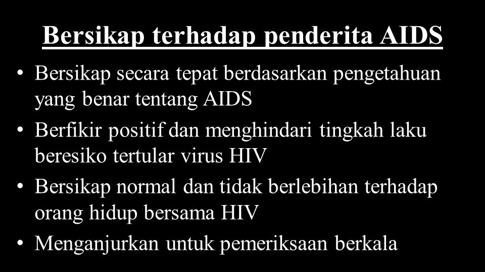 Bersikap terhadap penderita AIDS