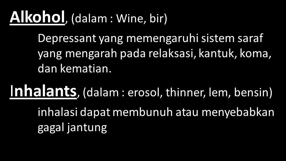 Alkohol, (dalam : Wine, bir)