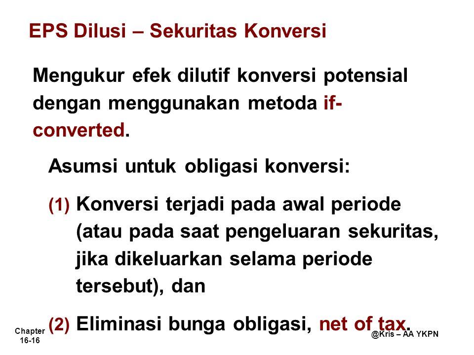 EPS Dilusi – Sekuritas Konversi