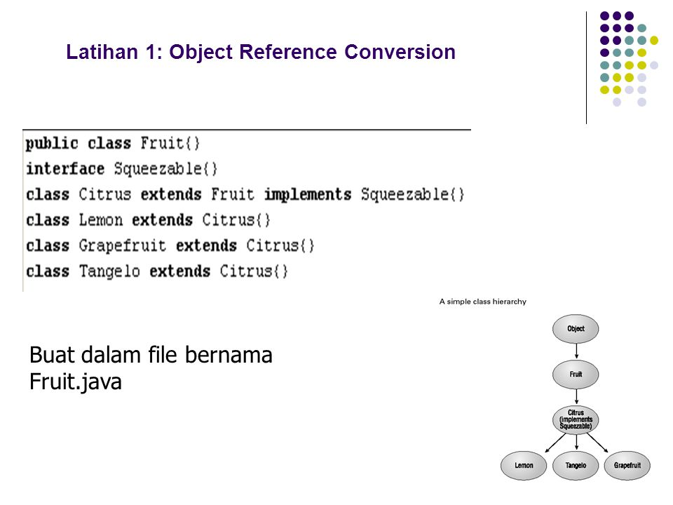 Latihan 1: Object Reference Conversion