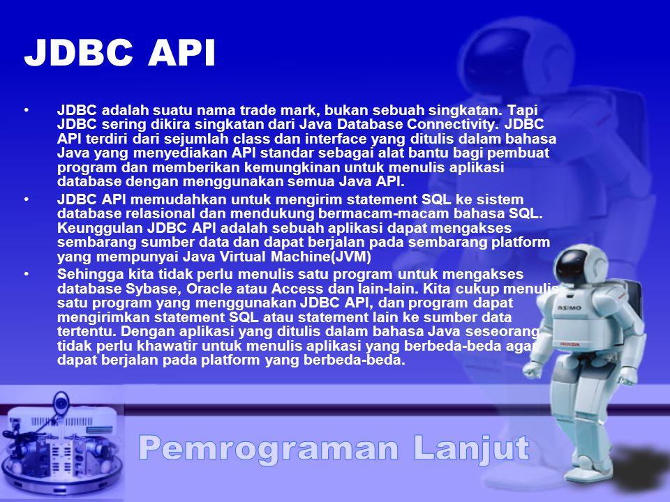 JDBC API