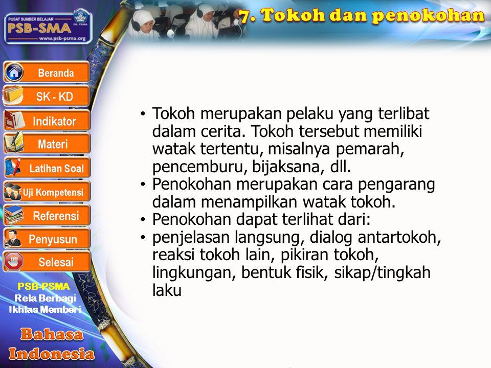 7. Tokoh dan penokohan