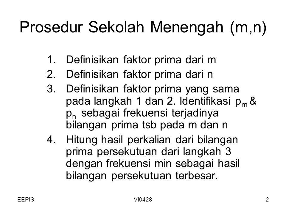 Prosedur Sekolah Menengah (m,n)