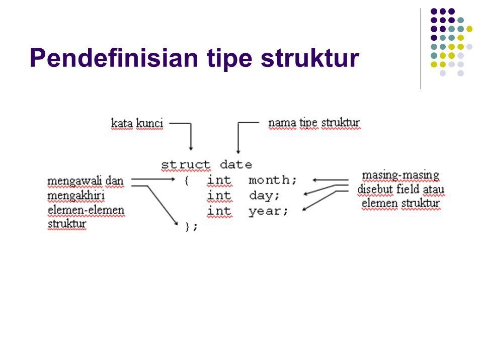 Pendefinisian tipe struktur