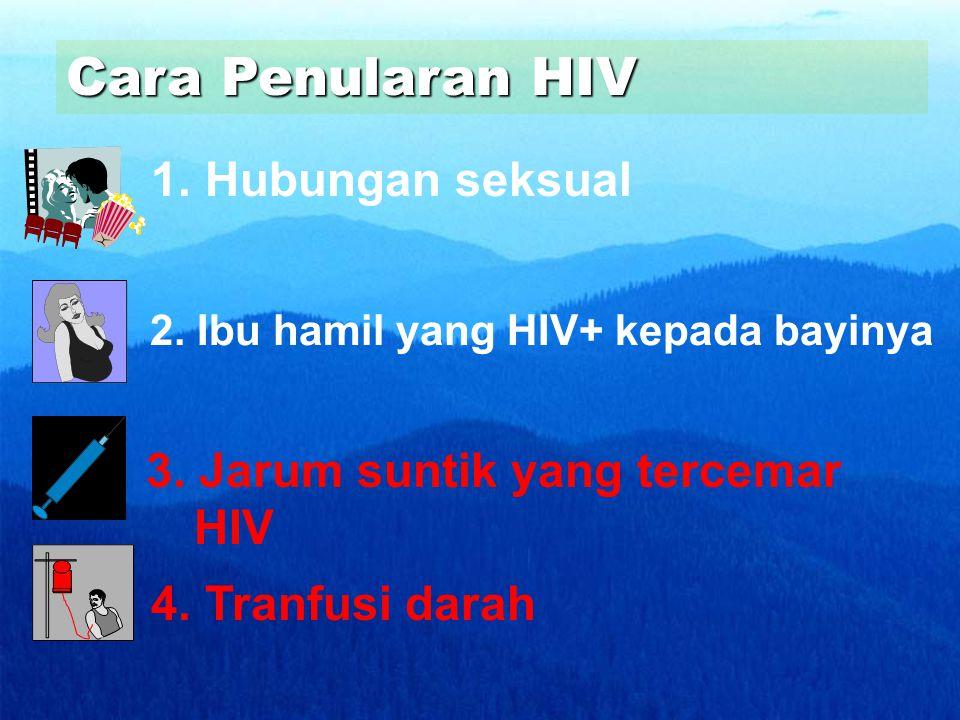 Cara Penularan HIV 1. Hubungan seksual