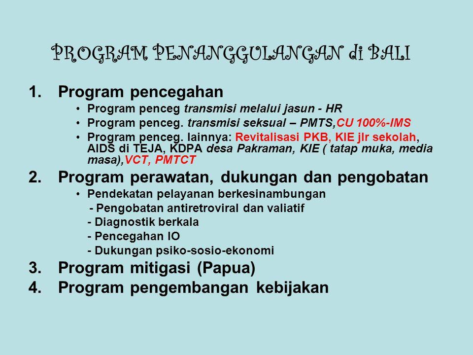 PROGRAM PENANGGULANGAN di BALI