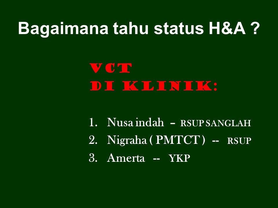 Bagaimana tahu status H&A