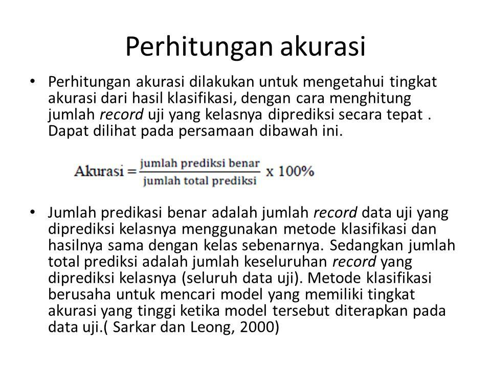 Perhitungan akurasi