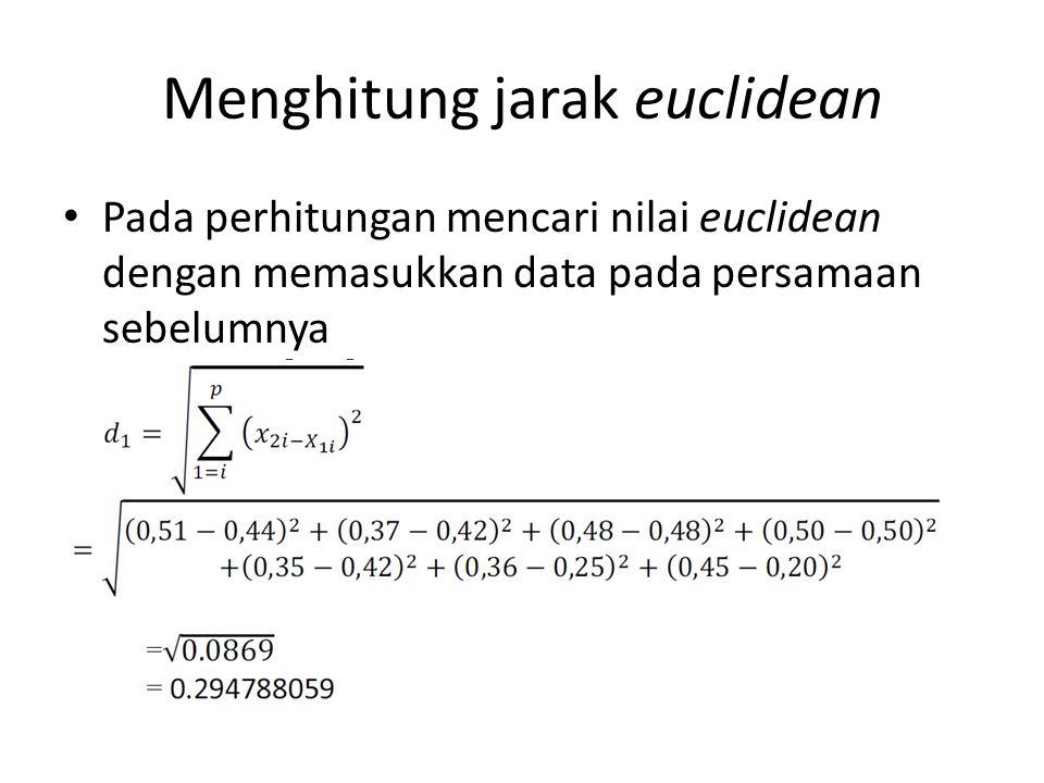 Menghitung jarak euclidean