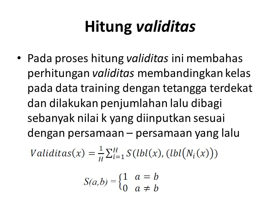Hitung validitas