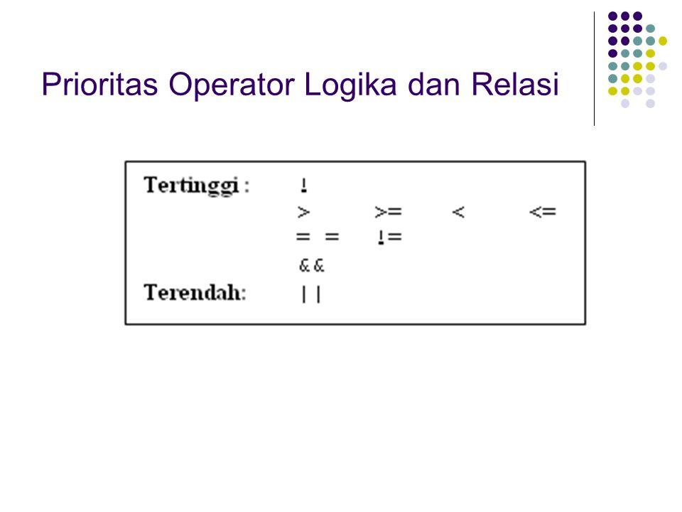 Prioritas Operator Logika dan Relasi