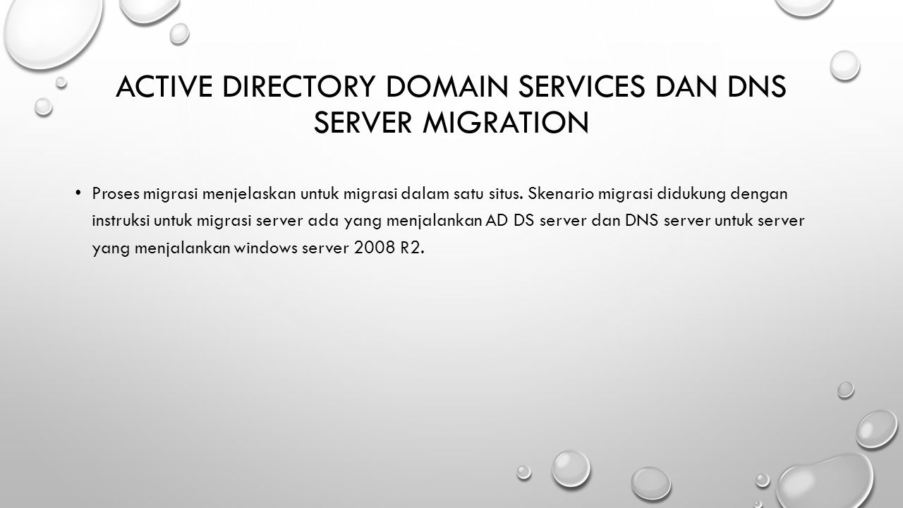 Active Directory Domain Services dan DNS Server Migration