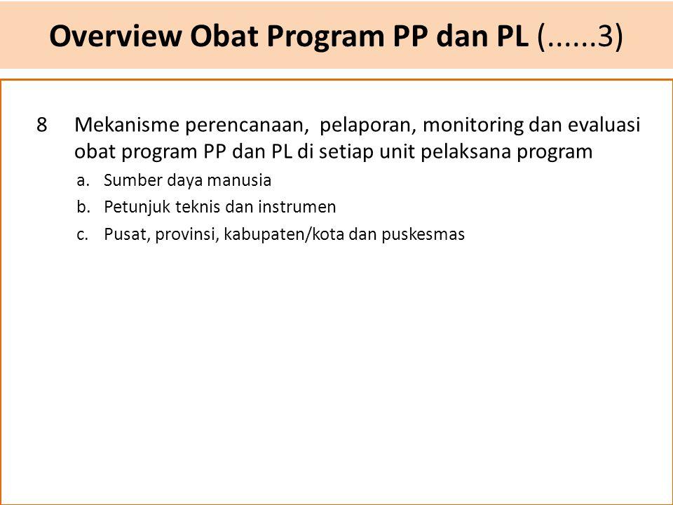Overview Obat Program PP dan PL (......3)