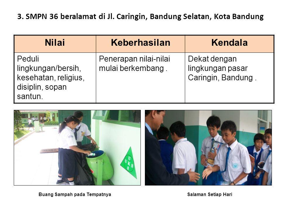 3. SMPN 36 beralamat di Jl. Caringin, Bandung Selatan, Kota Bandung