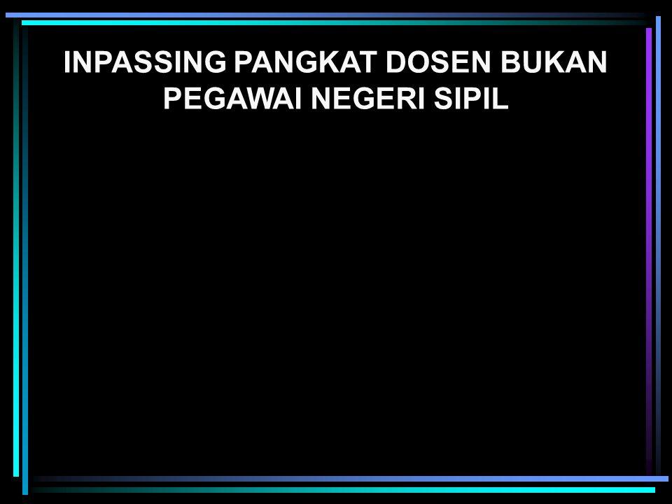 INPASSING PANGKAT DOSEN BUKAN PEGAWAI NEGERI SIPIL
