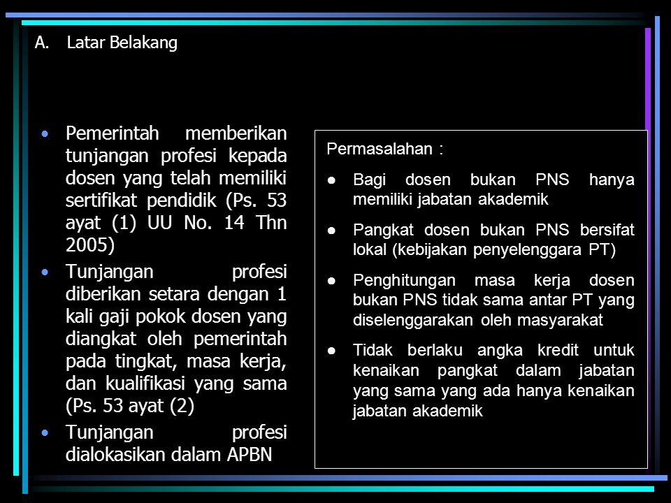 Tunjangan profesi dialokasikan dalam APBN
