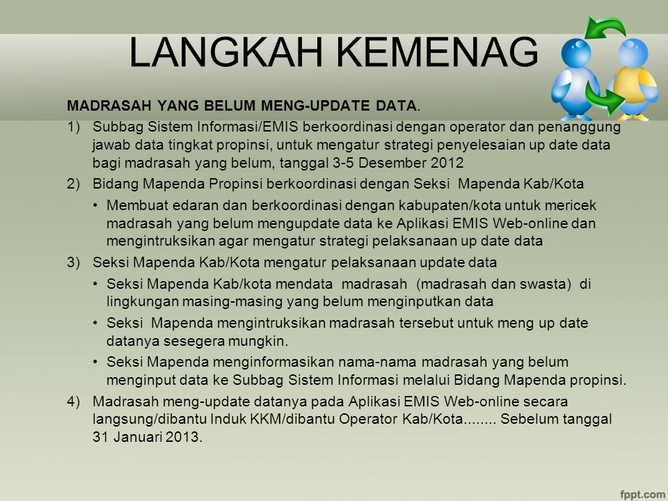 LANGKAH KEMENAG MADRASAH YANG BELUM MENG-UPDATE DATA.