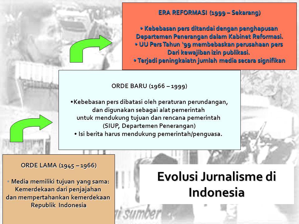 Evolusi Jurnalisme di Indonesia