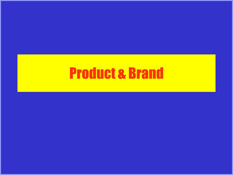 Product & Brand