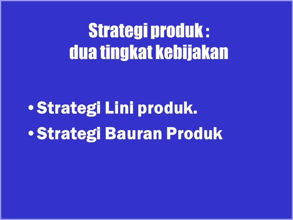 Strategi produk : dua tingkat kebijakan