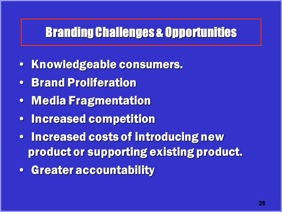 Branding Challenges & Opportunities