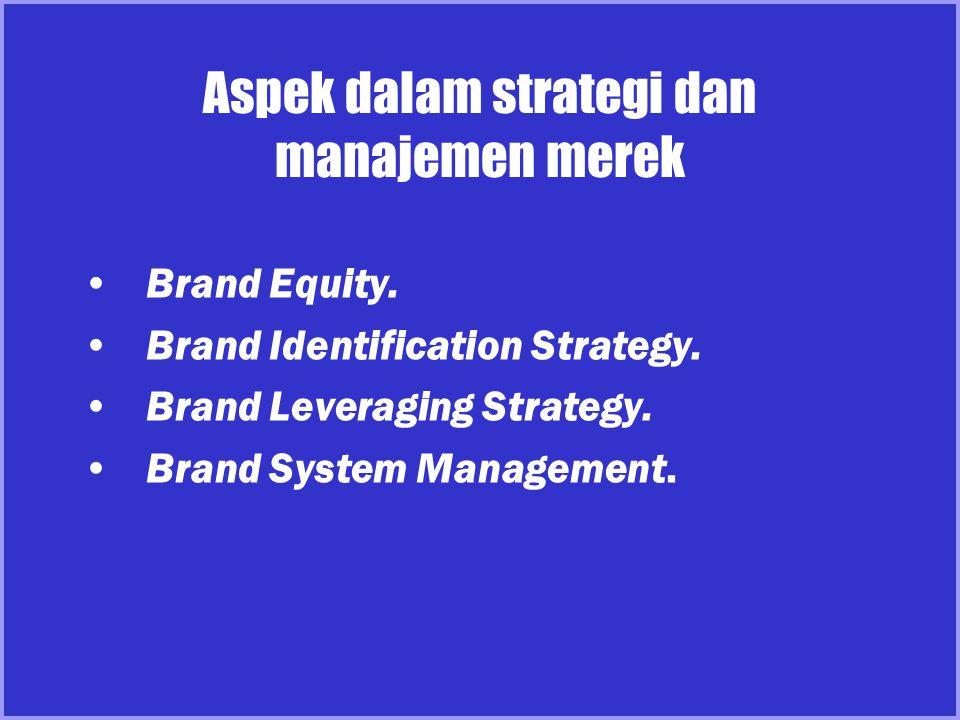 Aspek dalam strategi dan manajemen merek