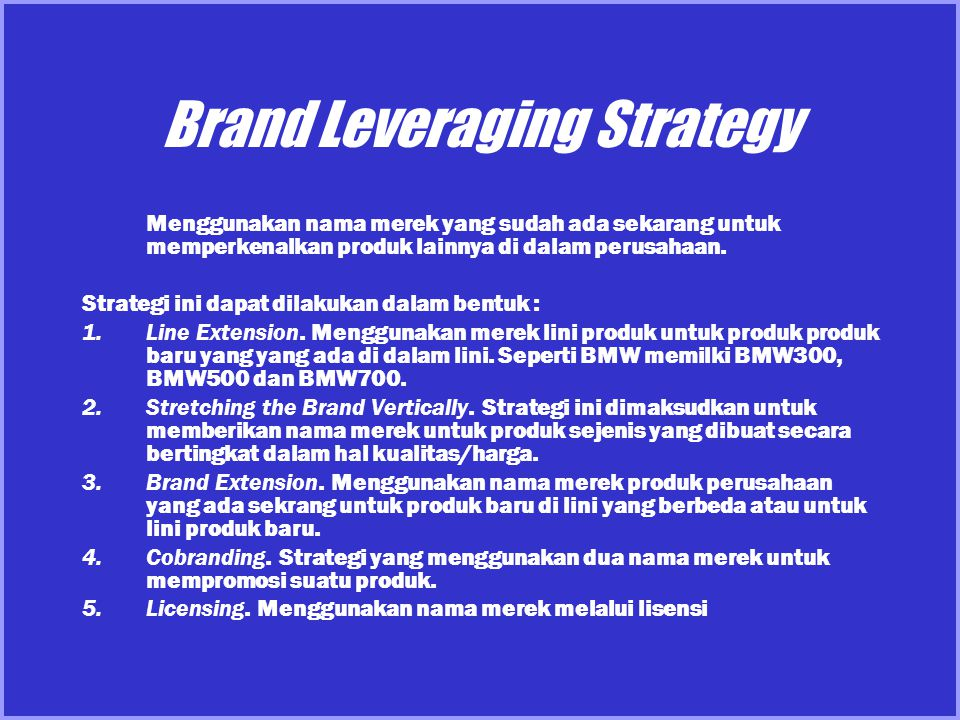 Brand Leveraging Strategy