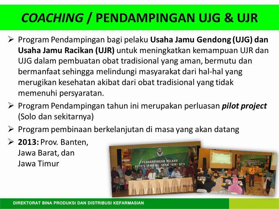 COACHING / PENDAMPINGAN UJG & UJR