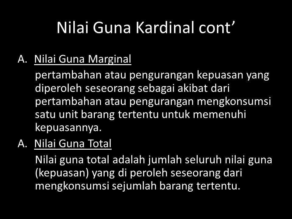Nilai Guna Kardinal cont'